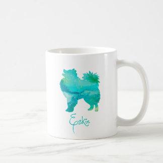American Eskimo Watercolor Design Coffee Mug
