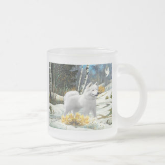 American Eskimo Winter Scene Mugs
