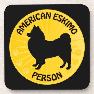American Eskimo Xing Coaster