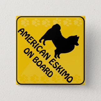 American Eskimo Xing Pinback Button