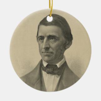 American Essayist Ralph Waldo Emerson Portrait Ceramic Ornament