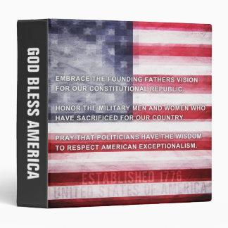 American Exceptionalism 3 Ring Binder