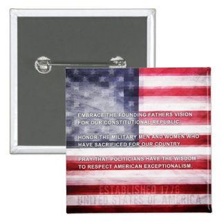 American Exceptionalism Pinback Button