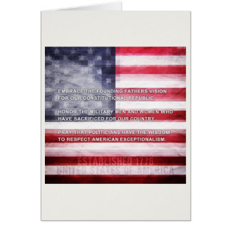 American Exceptionalism Greeting Card