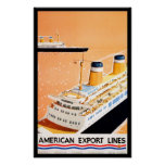 American Export Lines Posters