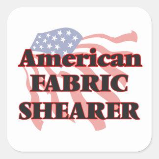 American Fabric Shearer Square Sticker