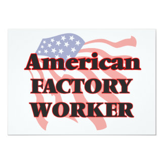 American Factory Worker 5x7 Paper Invitation Card