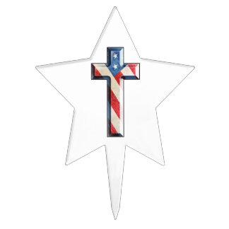 American Faith Cross Cake Picks