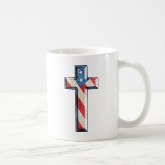American Faith Cross Coffee Mug