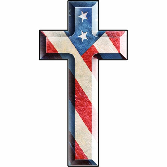 American Faith Cross Statuette