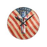 American Faith Round Clock