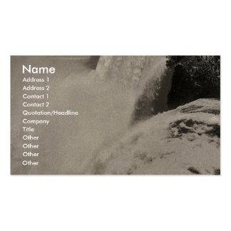 American Fall from Goat Island, Niagara rare Photo Business Cards