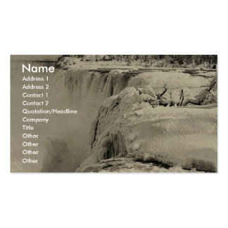 American Fall in winter, Niagara rare Photochrom Business Card Templates
