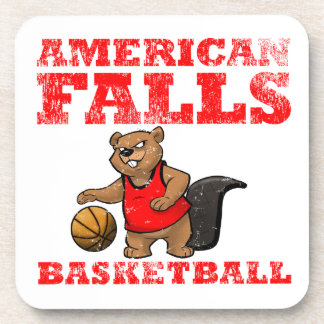 American Falls Beavers Basketball Beverage Coaster
