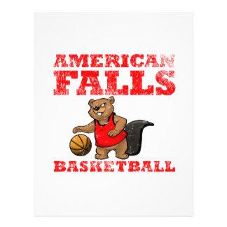 American Falls Beavers Basketball Customized Letterhead