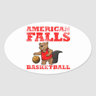 American Falls Beavers Basketball Oval Sticker