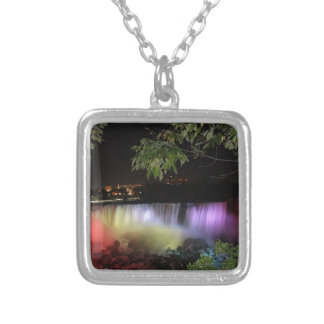 American Falls, Canada Silver Plated Necklace