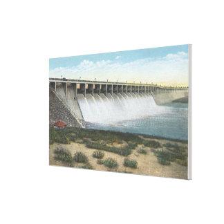 American Falls Dam Spillway, Oregon Stretched Canvas Prints