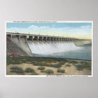 American Falls Dam Spillway, Oregon Poster
