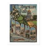 American Falls, Idaho - Large Letter Scenes Postcard