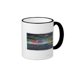 American Falls Illuminated at Night during Winte Coffee Mugs