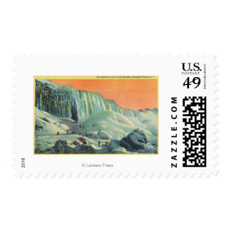American Falls in Winter with Sunset Postage