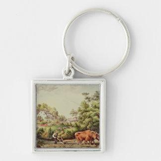 American Farm Scenes Keychain