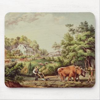 American Farm Scenes Mouse Pad