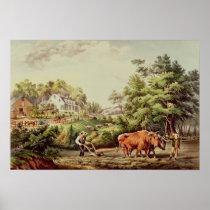 American Farm Scenes Poster