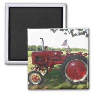 American Farmer Red Tractor Magnet