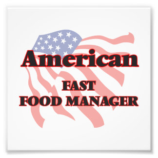 American Fast Food Manager Photo Print