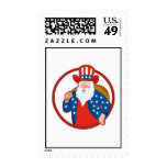 American Father Christmas Santa Claus Postage Stamps
