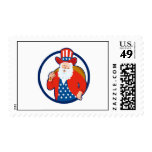 American Father Christmas Santa Claus Postage