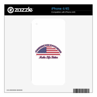 american FATHERs designs Decals For iPhone 4S