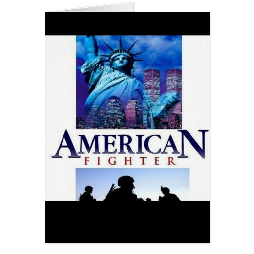 American Fighter Greeting Card