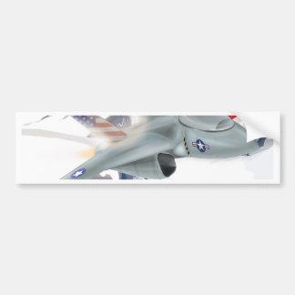 American fighter Jet Bumper Sticker