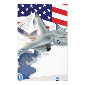 American fighter Jet Stationery