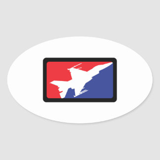 AMERICAN FIGHTER JET OVAL STICKER