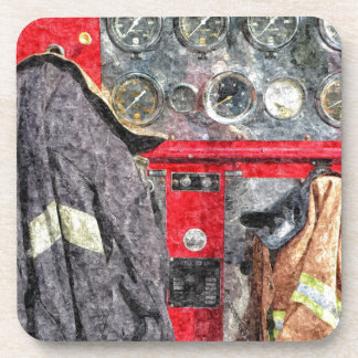 American Fire Truck Beverage Coaster