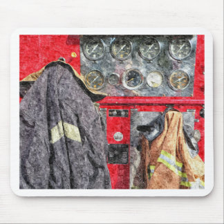 American Fire Truck Mouse Pad