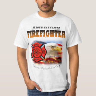 American Firefighter Dedicated to Duty T-Shirt