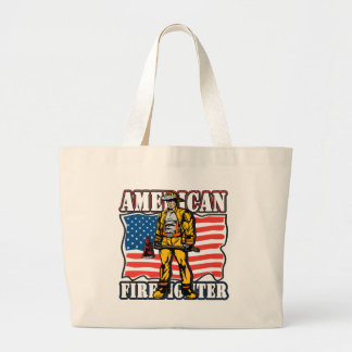 American Firefighter Large Tote Bag