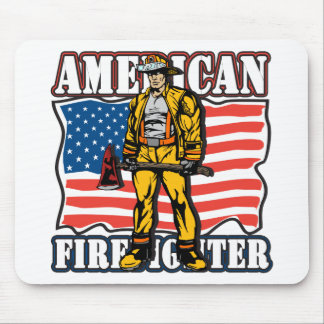 American Firefighter Mouse Pad