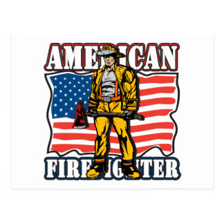 American Firefighter Postcard