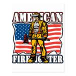 American Firefighter Postcard