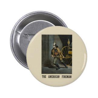 American fireman Pinback Buttons