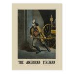 American fireman Post Card