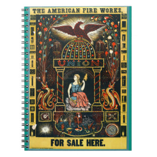 American Fireworks Ad 1872 Notebook