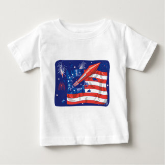 American Fireworks Baby T-Shirt