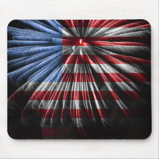 American Fireworks Flag Mouse Pad
